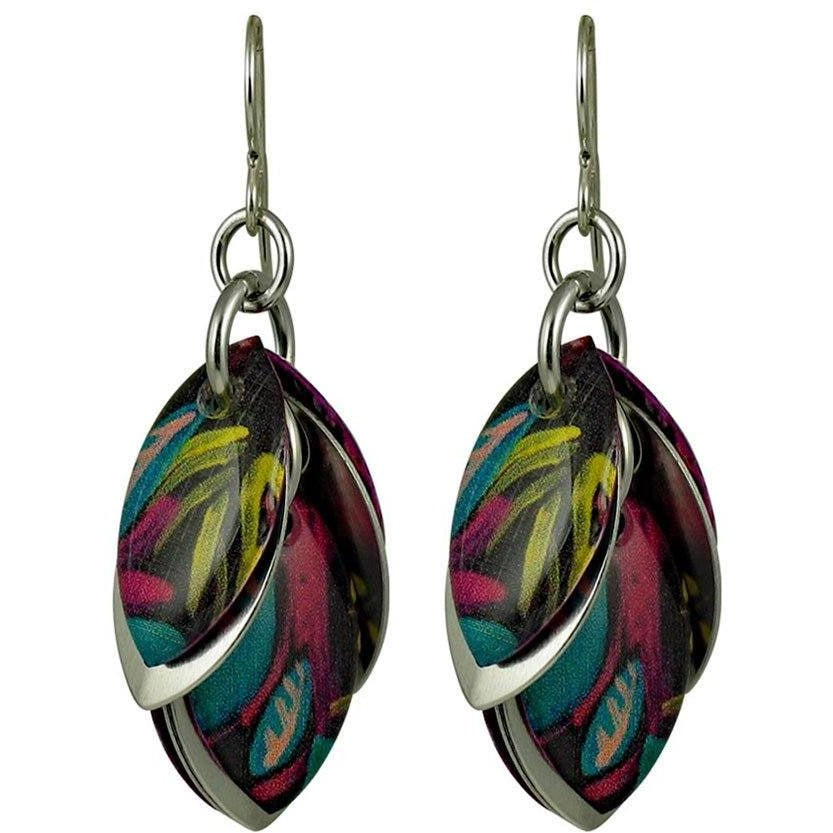 An Escapitude Artful Statement Earrings - 3 Lengths - $95 to $225