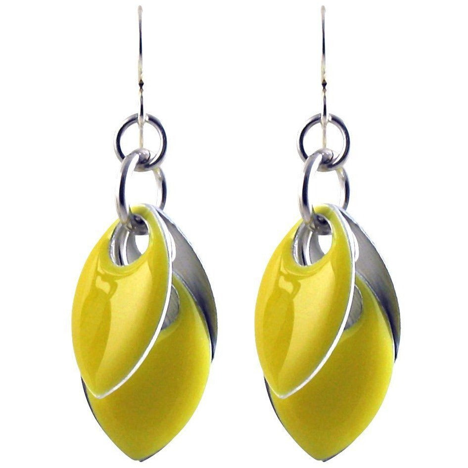 Iced Yellow Fondant Petal Earrings - Over Silver - Four Lengths - Diana Ferguson Jewelry