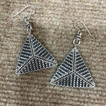 Art Deco Inspired If I Were A Tuxedo Pyramid Earrings
