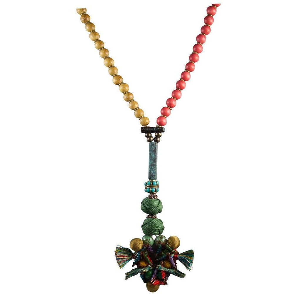 SOLD One of a Kind Afrika Afrika Two Tiny Giraffes Necklace - Diana Ferguson Jewelry