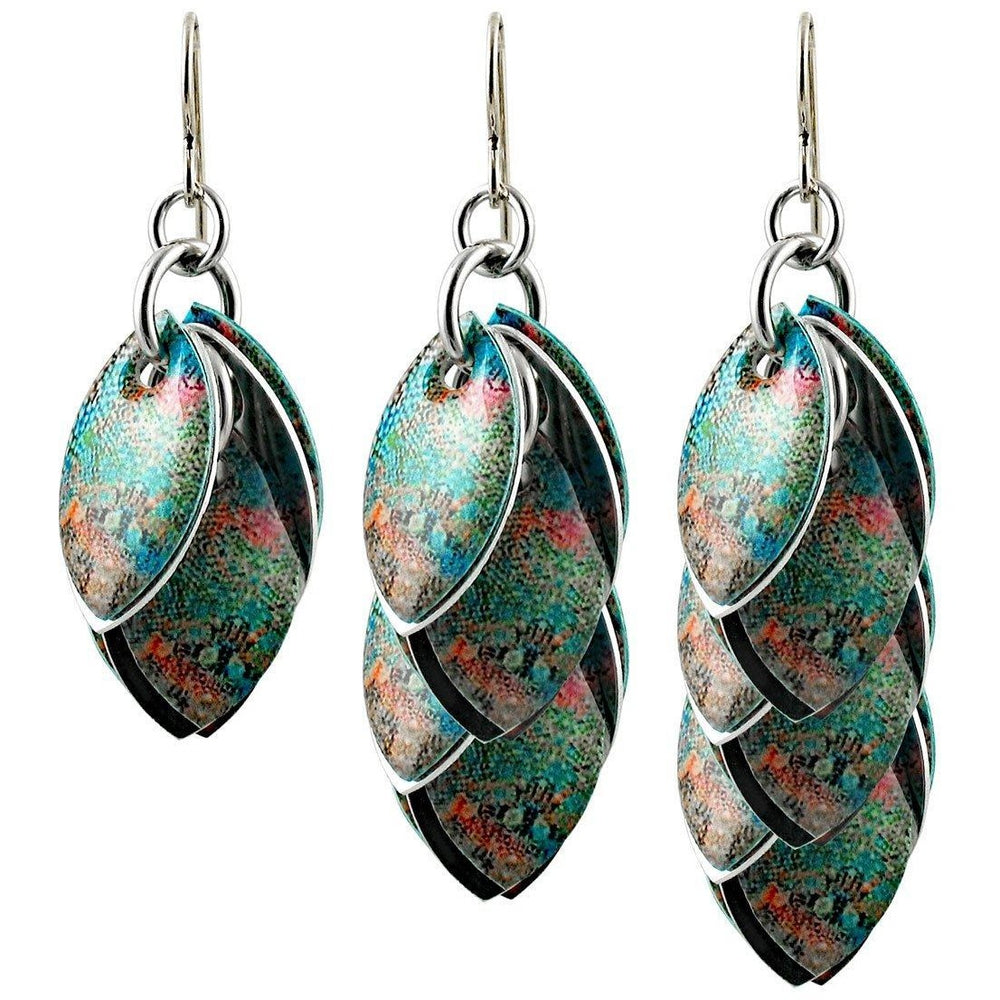 Snakeskin Boho Artful Statement Earrings - 3 Lengths - $95 to $225