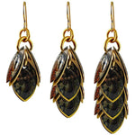 Brocaded Artful Statement Earrings - 3 Lengths - $95 to $225