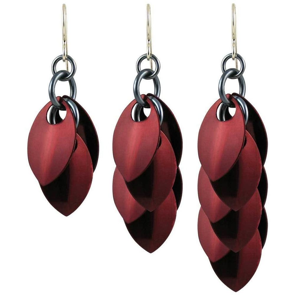 Burgundy Statement Earrings - Diana Ferguson Jewelry