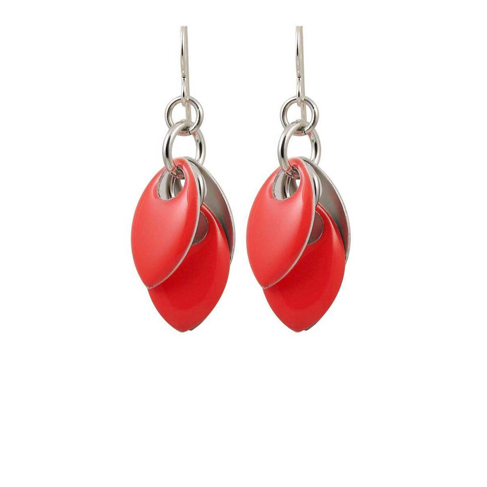 Coral Rose Earrings - Three Lengths - $75 to $165