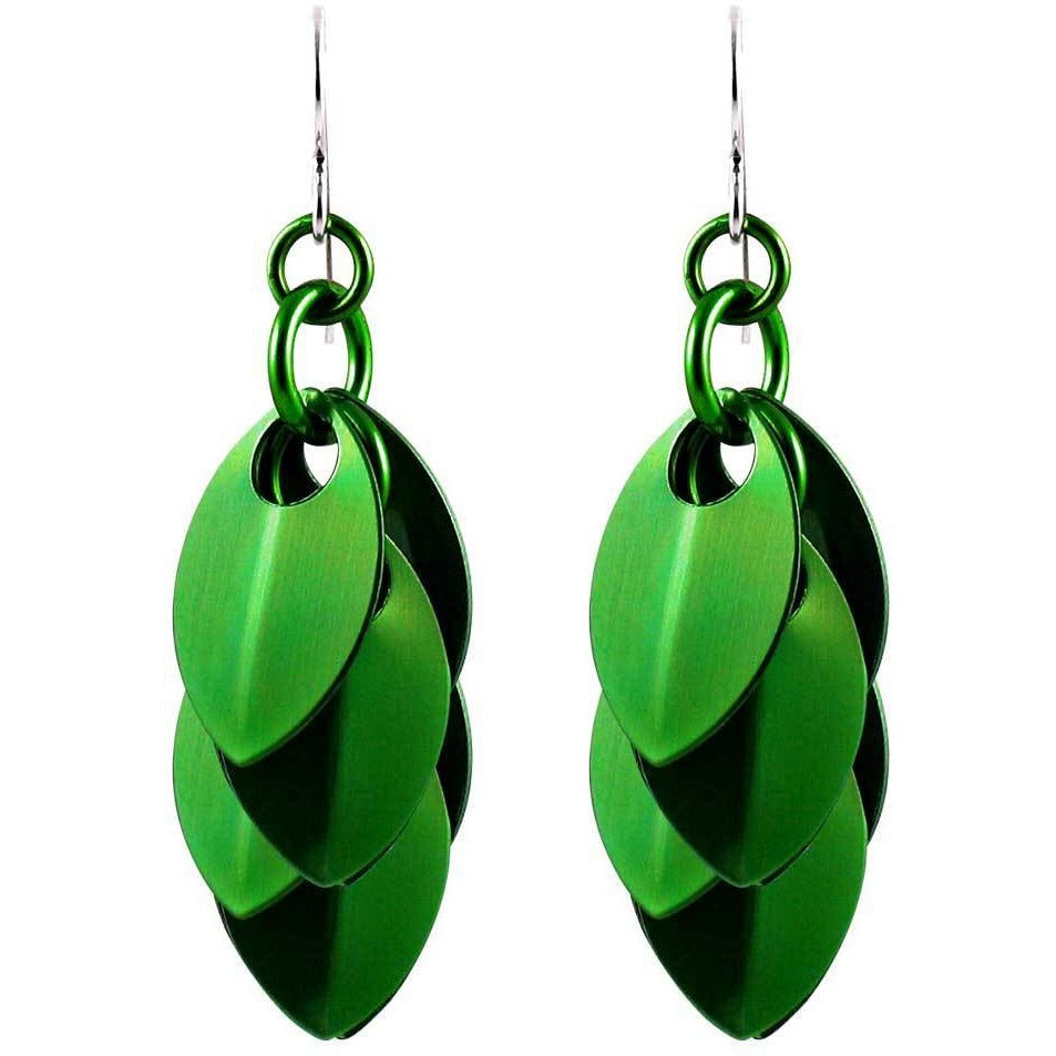 Everything's Gone Green A Simple Petal Earrings - 3 Lengths - $35 to $95