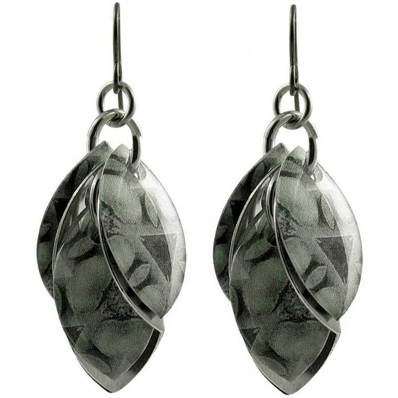 Deep in the Grey Artful Statement Earrings - 3 Lengths - $95 to $225