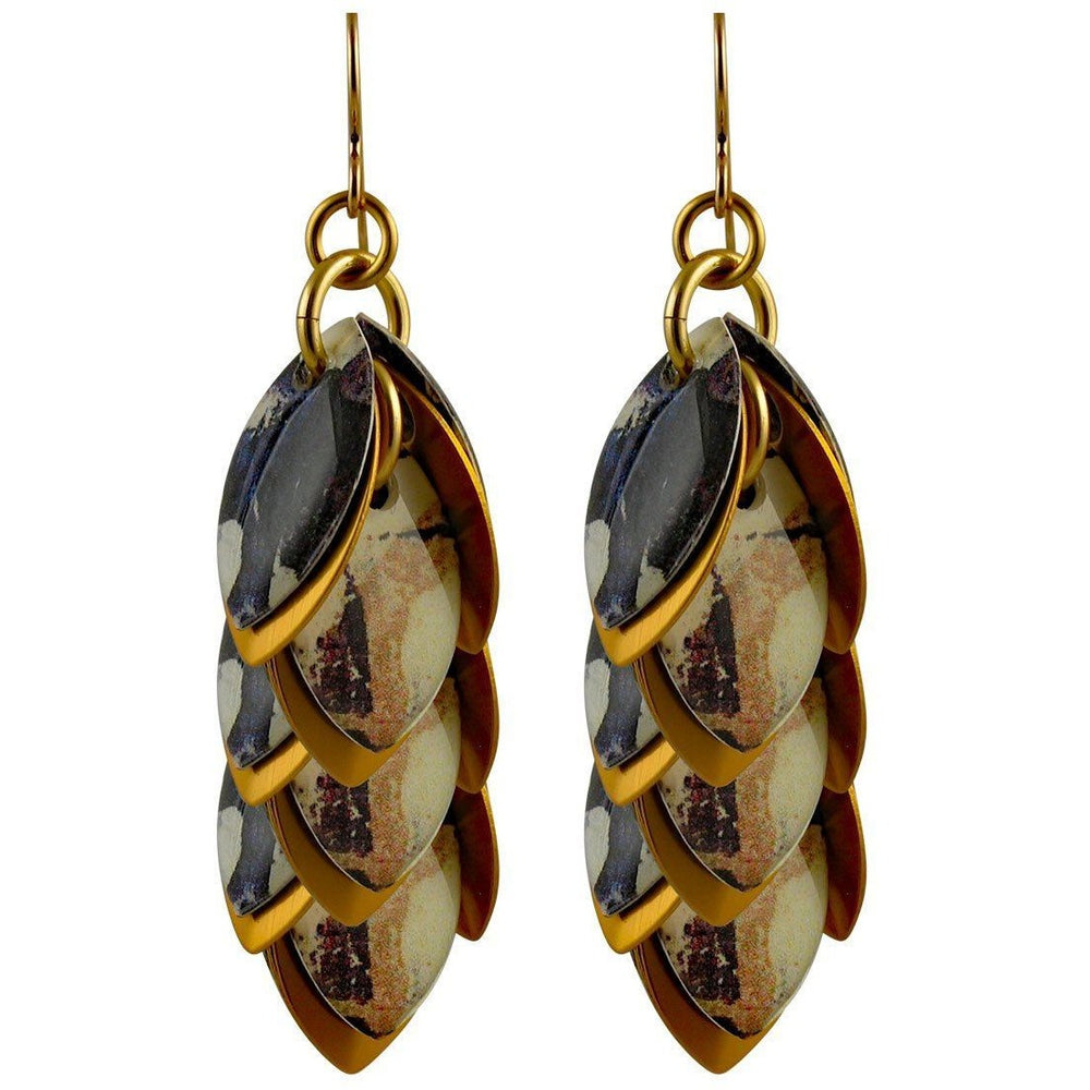 Deep Purple Artful Statement Earrings - 3 Lengths - $95 to $225