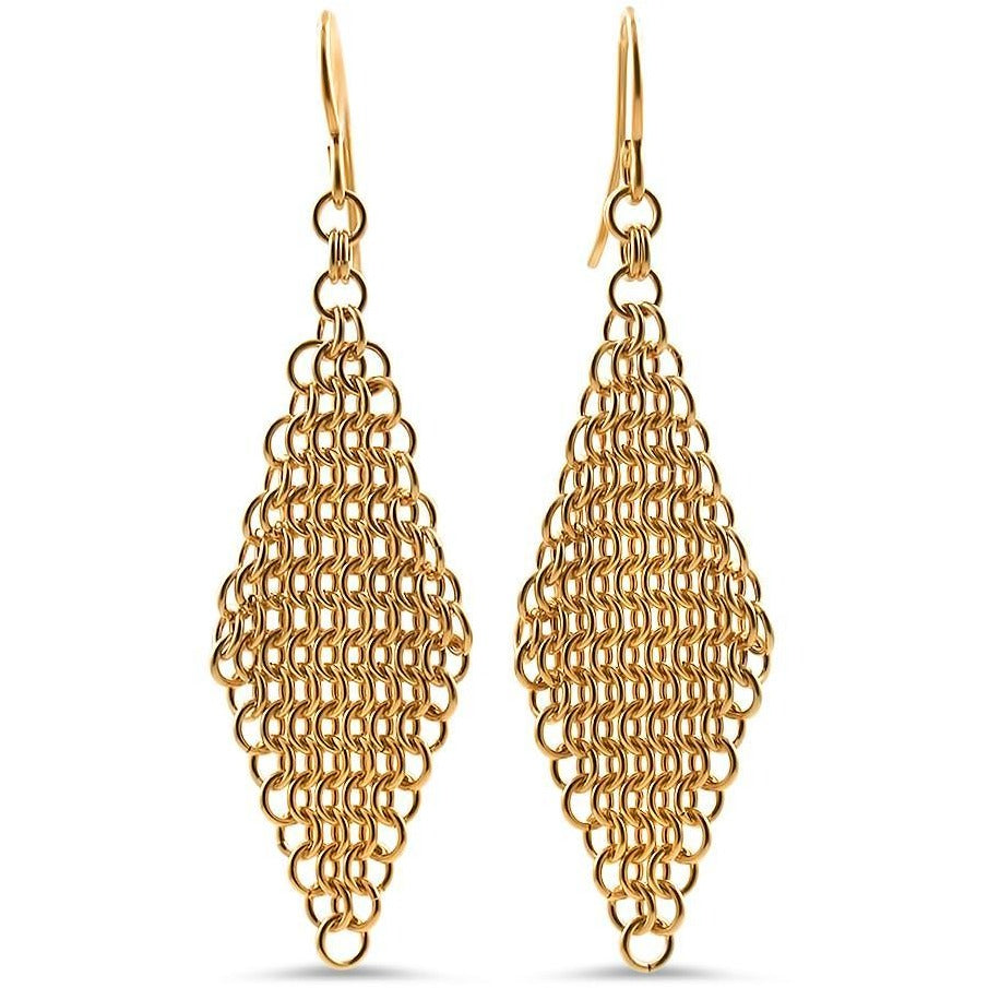 Essentials Gold or Silver Hand-Woven Mesh Earrings
