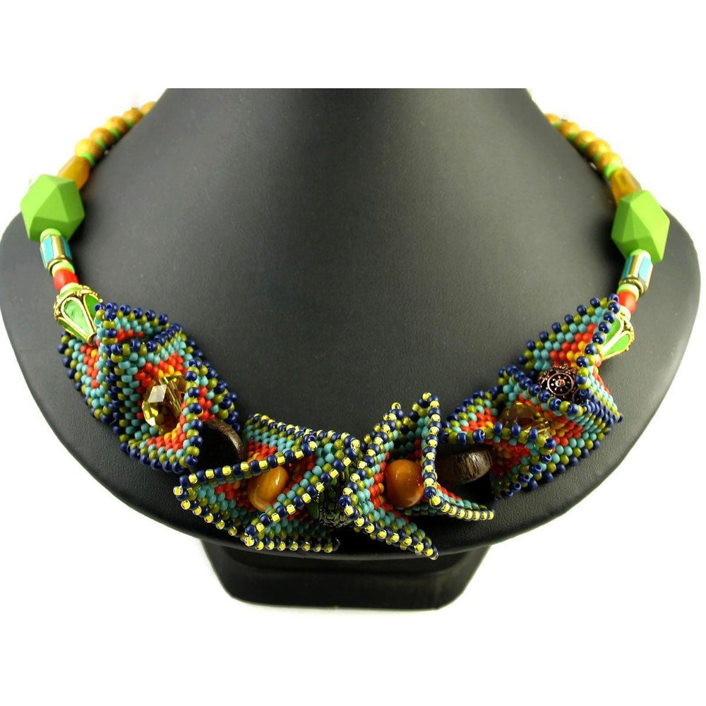 SOLD One of a Kind African Summer #1 Necklace - Diana Ferguson Jewelry