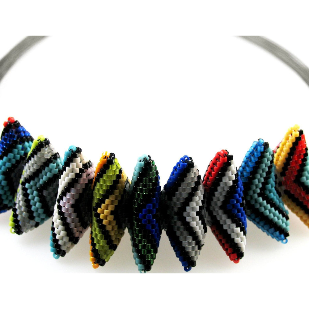 Galaxy of Color Multicolored Geometric Rope Necklace