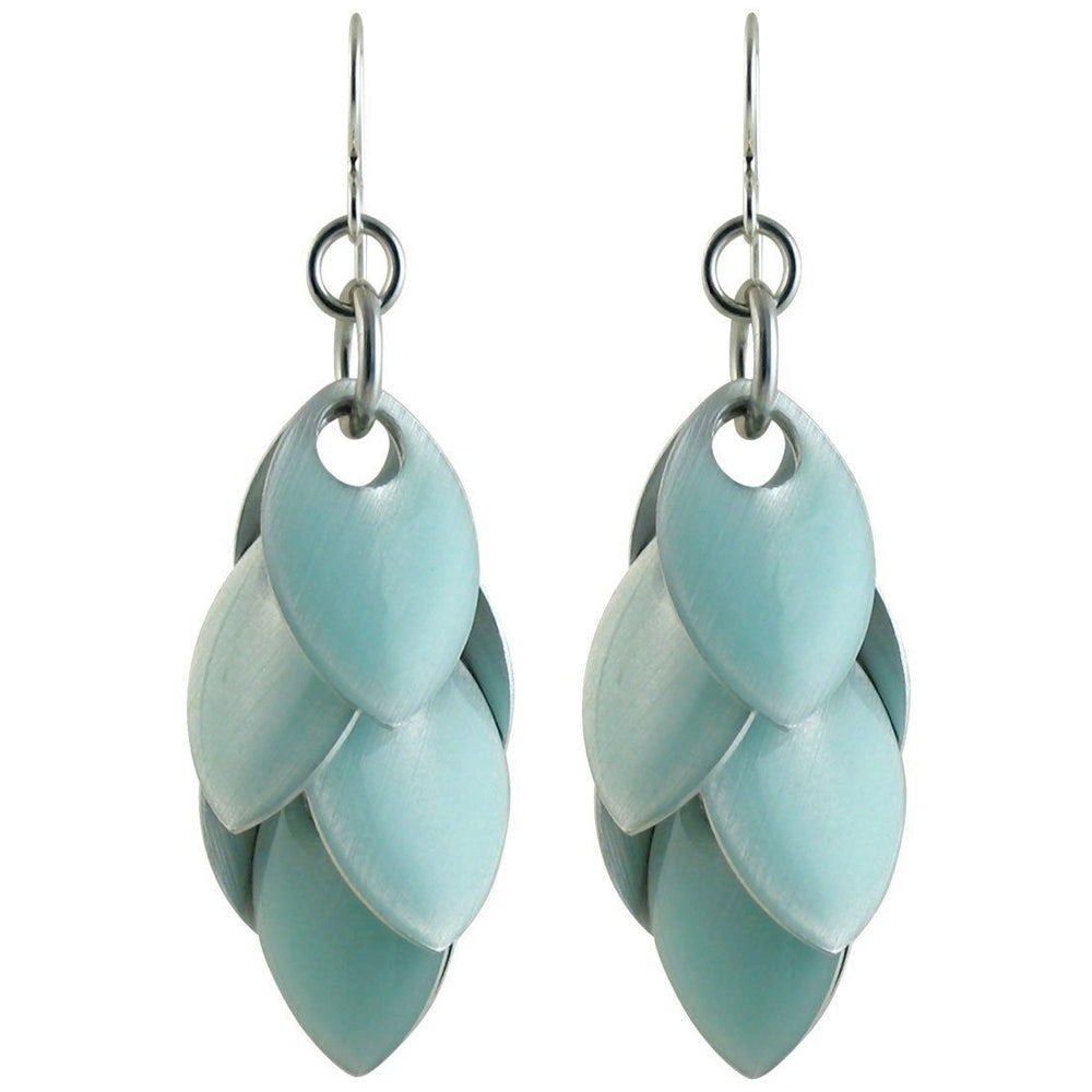 Iced Blue Fondant Petal Earrings - Over Silver - Four Lengths - Diana Ferguson Jewelry