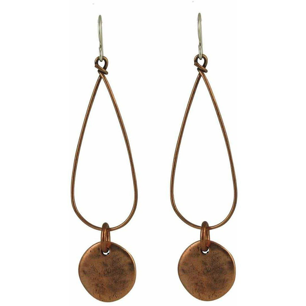 Boho Style Hoop Earrings with Organic-Textured Drops - Diana Ferguson Jewelry