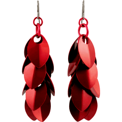 "Perfectly Red ""A Simple Petal"" Earrings"