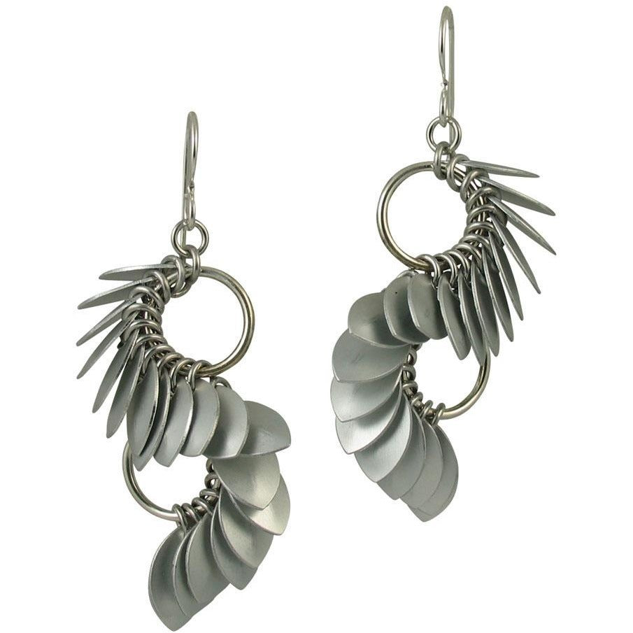 Tiny S Curve Earrings from the A Simple Petal Collection - Diana Ferguson Jewelry