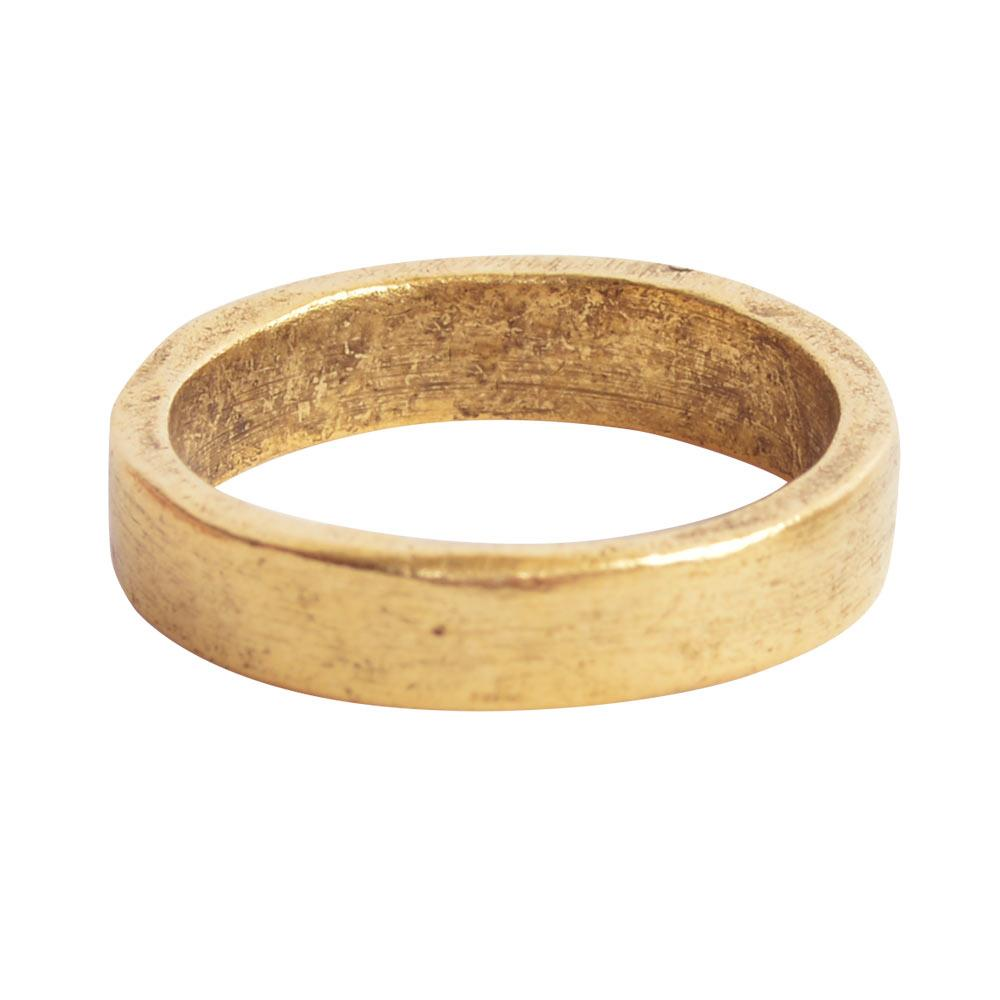 Hammered Stackable Ring - Gold