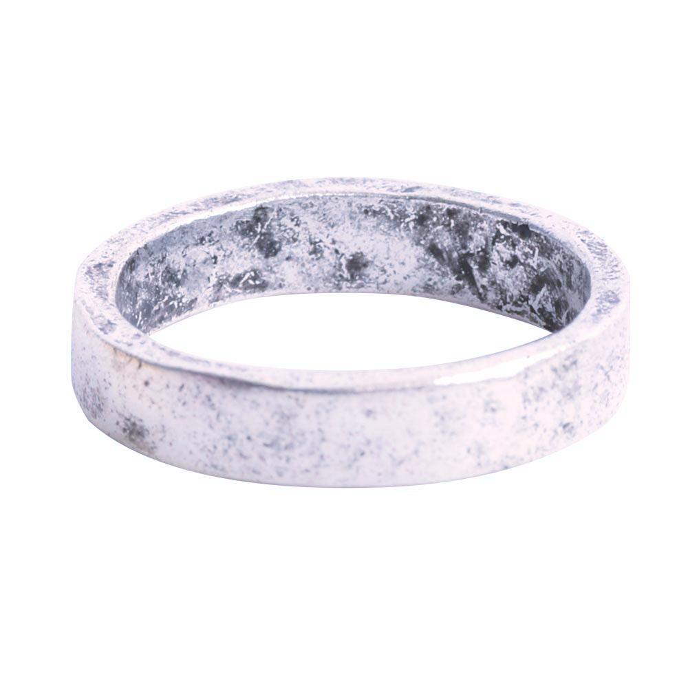 Hammered Stackable Ring - Silver