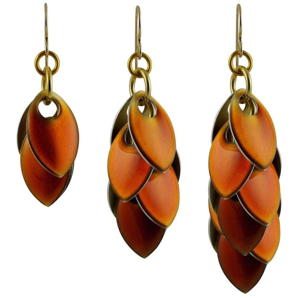 Iced Amber Long Dangle Earrings - 3 lengths - Diana Ferguson Jewelry