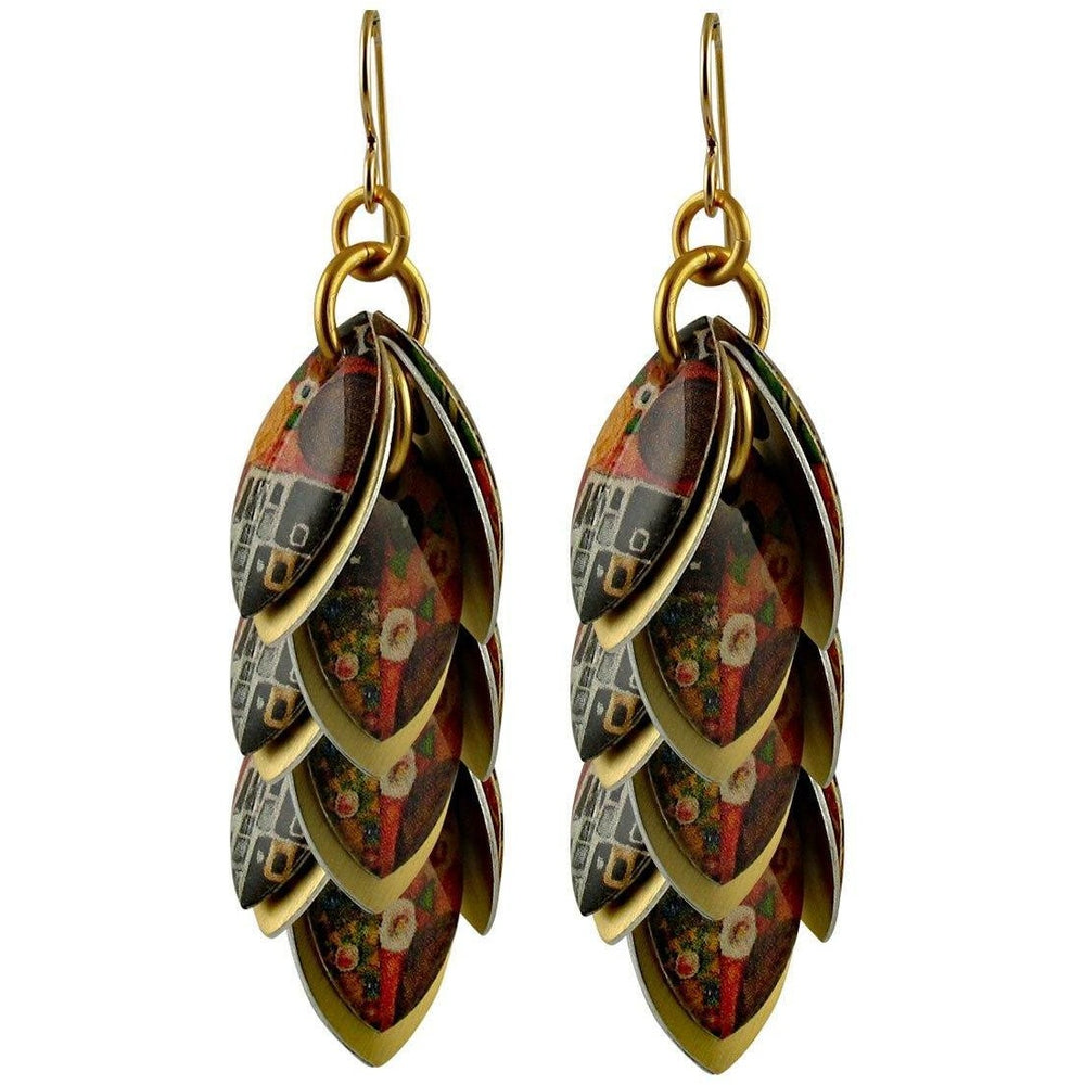 The Kiss Artful Statement Earrings - 3 Lengths - $95 to $225