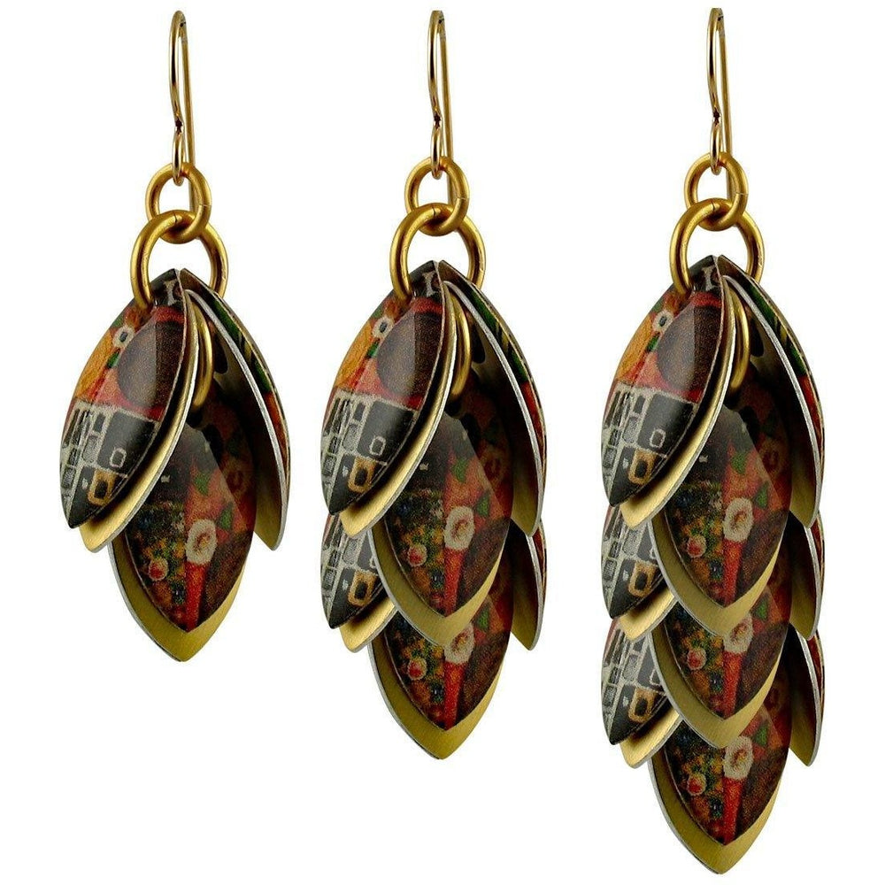 Klimt The Kiss Wire Back Earrings - Diana Ferguson Jewelry