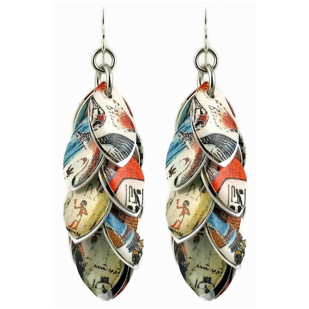 Limited Edition Life on the Nile Earrings - 3 Inch Length Only