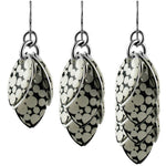 Mondo Black & White Polka Dot Earrings - 3 Lengths - $95 to $225