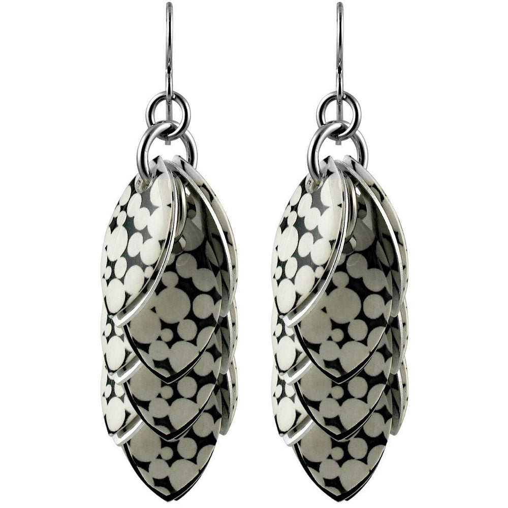 Mondo Black & White Polka Dot Statement Earrings - 3 Lengths - $95 to $225