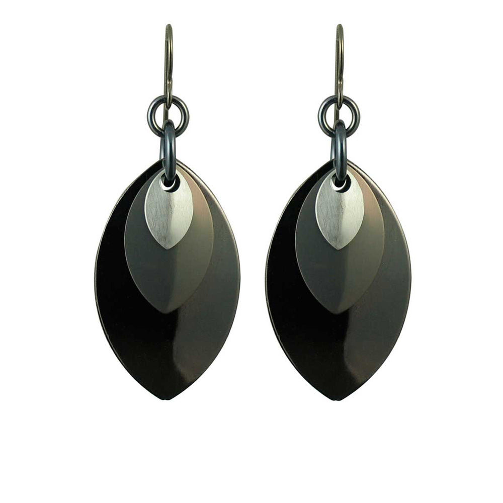 Monochrome Musings A Simple Petal Earrings
