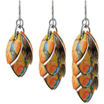 Orange You Lovely Long Dangle Earrings - Diana Ferguson Jewelry