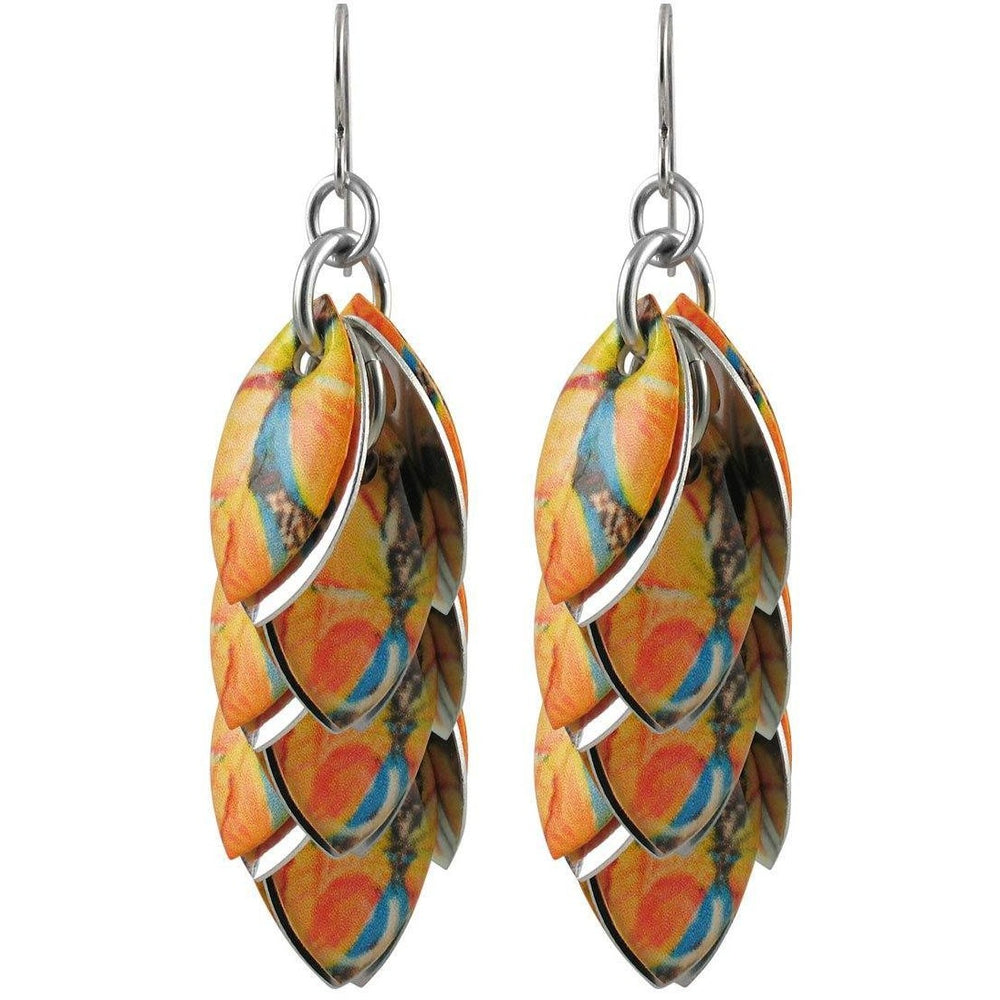 Orange You Lovely Mixed Media Earrings - 3 Lengths - $95 to $225