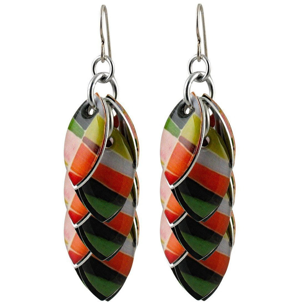 Patch Me In Artful Statement Earrings - Three Lengths - $95 to $225