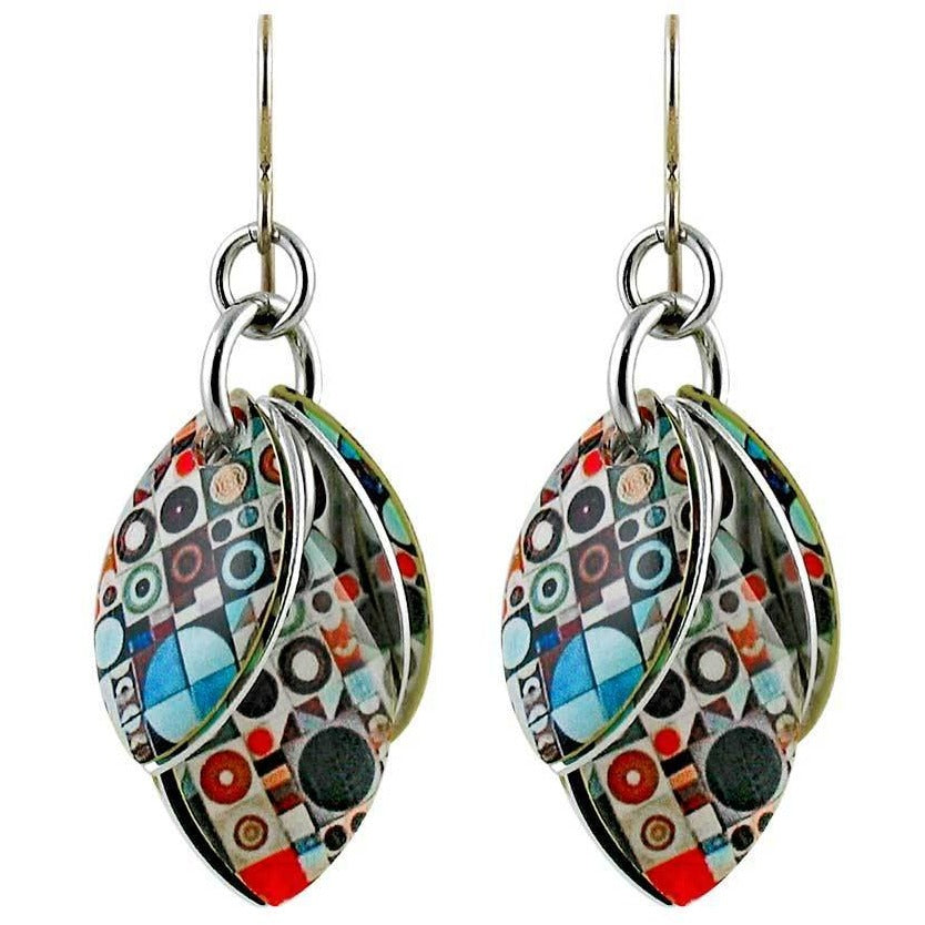 Teeny Tiny Geo Artful Statement Earrings - 3 Lengths - $95 to $225
