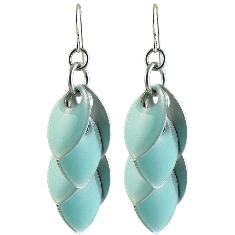 Turquoise Fondant Long Dangle Earrings - Diana Ferguson Jewelry