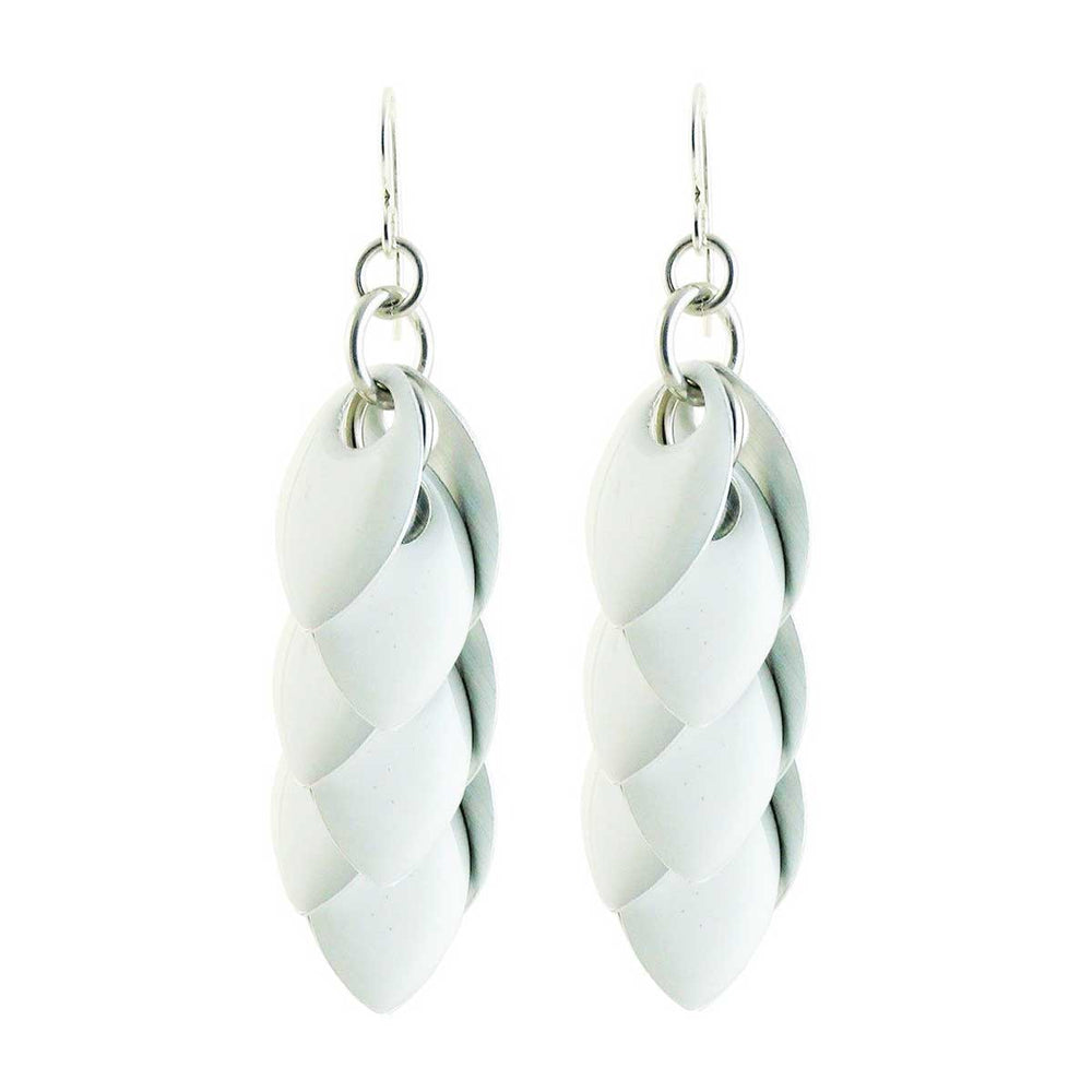 Iced White Fondant Artful Statement Earrings - 3 Lengths - $75 to $165