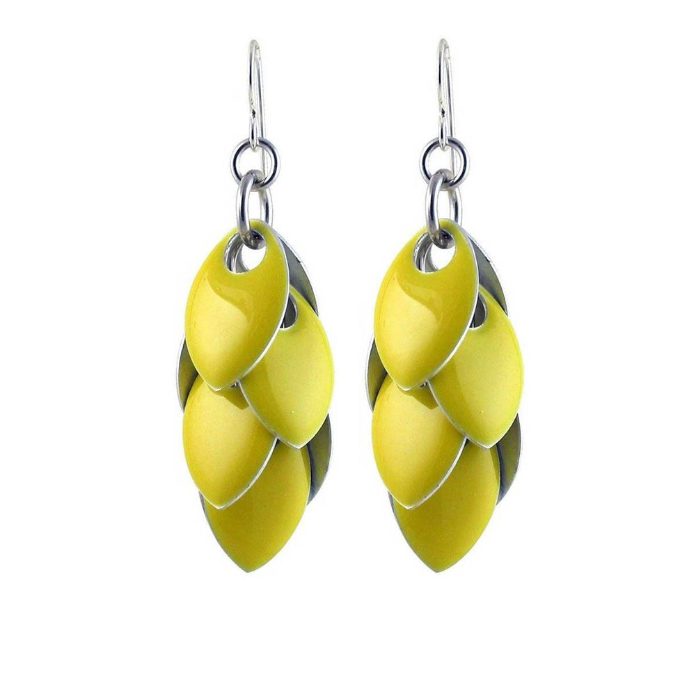 Iced Yellow Fondant Mixed Media Earrings - 3 Lengths - $75 to $165