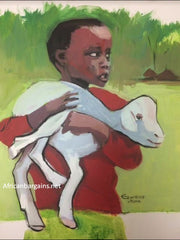 African Painting, Farmer's Son, African Art
