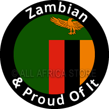 Zambian & Proud Of It Sticker 3.3 Inches