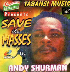 Andy Shurman - Save The Masses - CD - African Music Buy