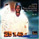 CD - Ayinla Omowura - 25 X 40 Vol 20 - CD