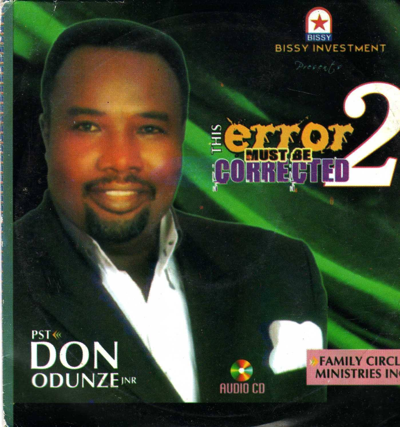 CD - Don Odunze - The Error Must Be Corrected Pt 2 - CD