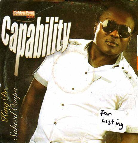 Saheed Osupa - Capability - Audio CD