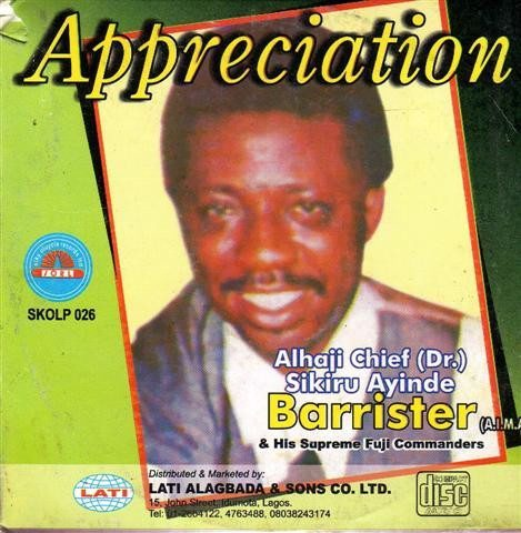 Sikiru Barrister - Appreciation - CD