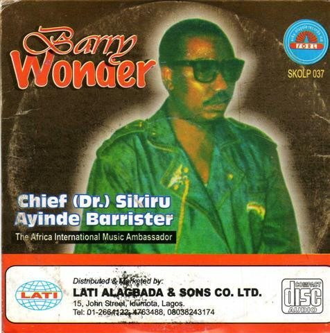 Sikiru Barrister - Barry Wonder - CD