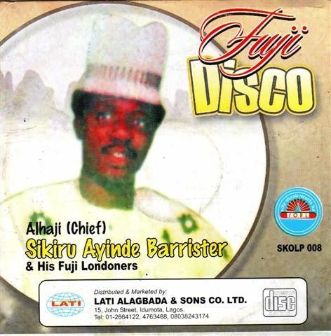 Sikiru Barrister - Fuji Disco - Audio CD