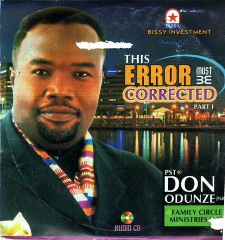 Music CD, - Don Odunze - The Error Must Be Corrected Pt 1 - CD