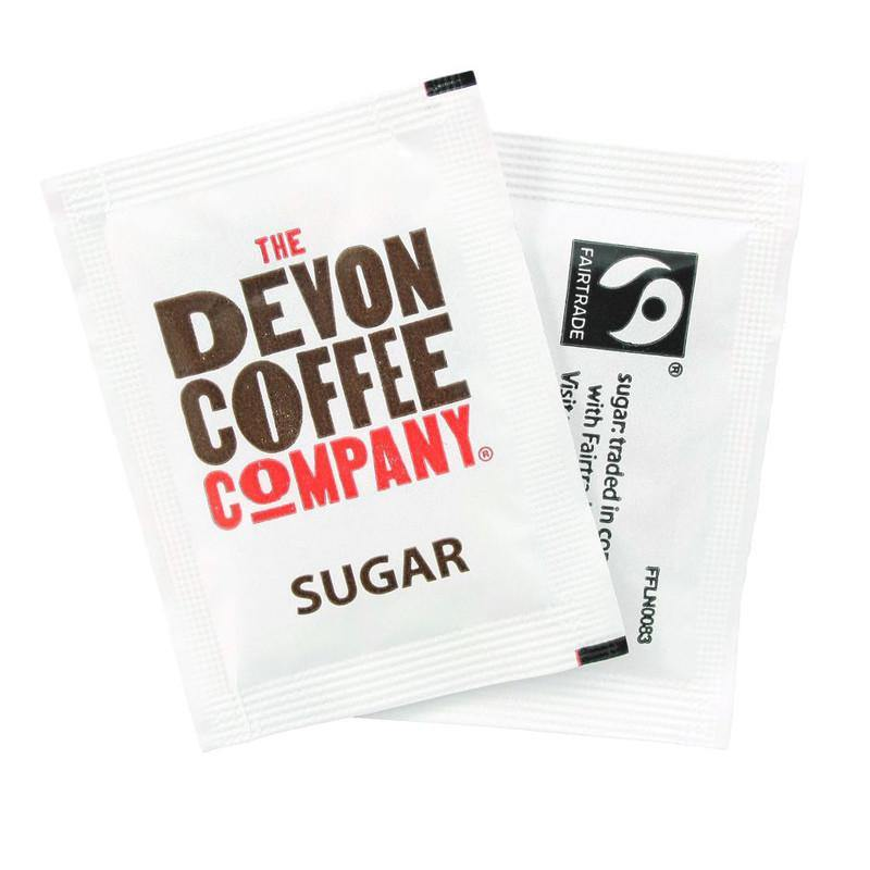 White Sugar Sachets Devon Coffee Company