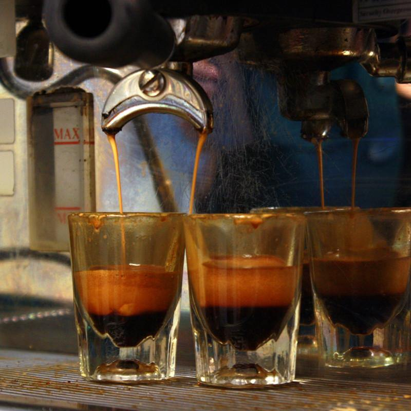 Glass Coffee Shots