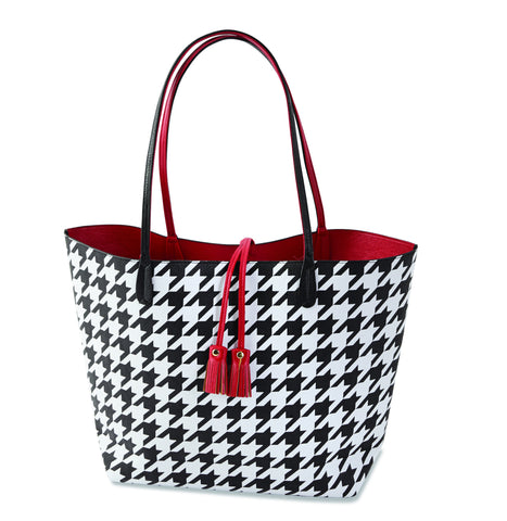 Reagan Reversible Tote Houndstooth
