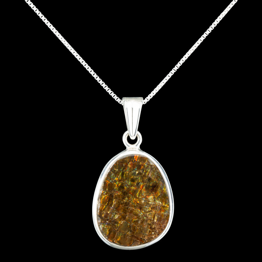 Ammolite Gemstone Pendant Necklace
