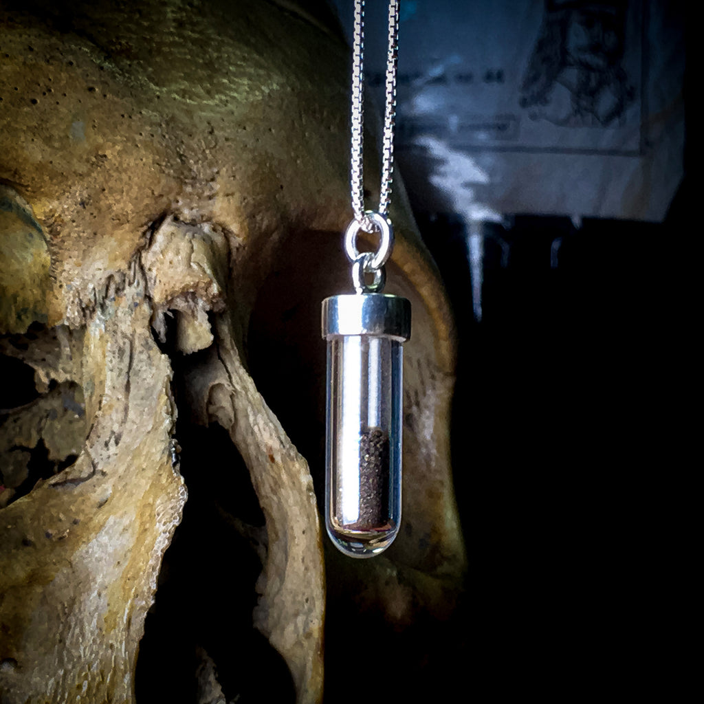 Dracula Soil Vial and Silver Necklace 🦇