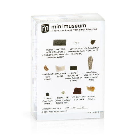 Mini Museum - First Edition (SMALL - 11 Specimens)